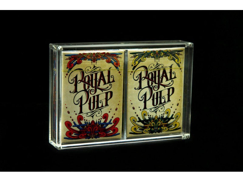 Crystal Card Case X2 Displays 2 Decks