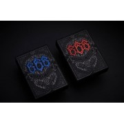 666 Playing Cards Blue